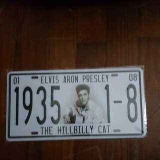 Vintage Looking Print of Elvis on Metal Signboard/ Plate
