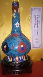 〈張同禄大師〉之珐瑯銅胎景泰藍