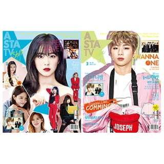 【Korea Buying Service 3/21-26】Asta TV Magazine March Issue (Wanna One Kang Daniel & Red Velvet Cover)