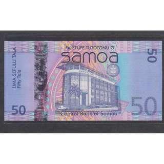 (BN 0111-1) 2008 Samoa 50 Tala, 1st Prefix With 0000, Hybrid Polymer Note - UNC