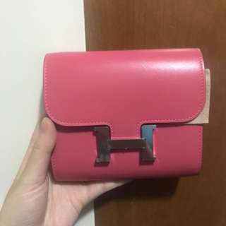 Hermes Constance Compact Wallet (Pink)