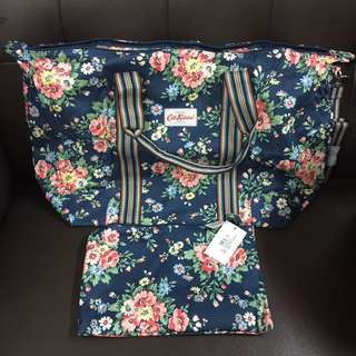 Cath Kidston Foldaway Overnight Bag 大旅行袋 媽媽袋 可摺疊 大容量 防水 附長帶