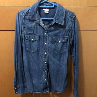 Levi's 深藍色牛仔裇衫