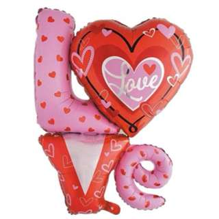 INSTOCK LOVE Red and Pink Inflatable Foil Balloon Birthday/ Wedding/ Party/ Christmas/ Occasions Decoration Preorder FREE POSTAGE