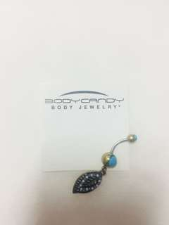 Turquoise Boho Leaf Belly Piercing (US)