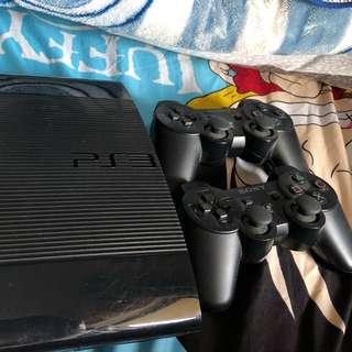 PS3 Superslim 500Gb 連兩手制六隻game