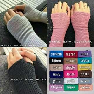 Hand sock jempol rajut