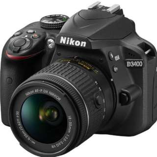Nikon D3400 DSLR Camera Body  (under warranty)