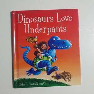Dinosaurs love underpants (tanpa boneka) Rp35rb Hardcover