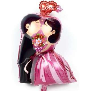 INSTOCK Bride and Groom Kissing one piece Inflatable Foil Balloon Birthday/ Wedding/ Party/ Christmas/ Occasions Decoration FREE POSTAGE