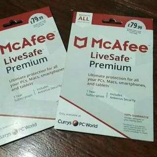 McAfee live safe premium