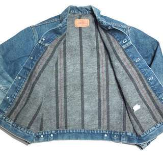 Levi's 牛仔外套 古著 80s Blanket Lined 鋪毛 Lee Carhartt