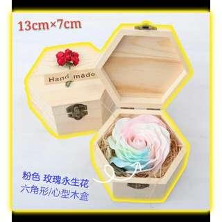 永生玫瑰花禮盒 木盒裝💟