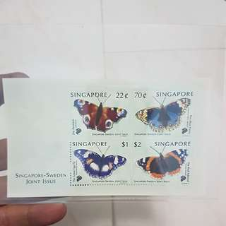 singapore sweden butterfly stamps