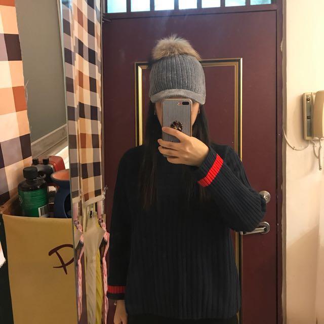 秋冬毛球棒球帽