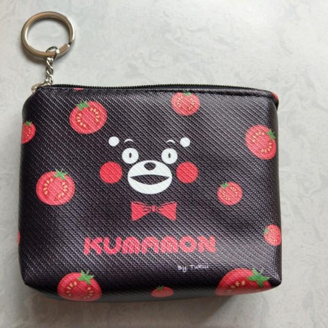 全新。熊本熊 皮質鑰匙零錢包、收納包