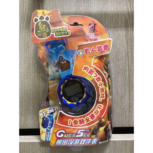 熊出沒手錶遊戲 內置七款小遊戲 真人發音 附送兩顆電池