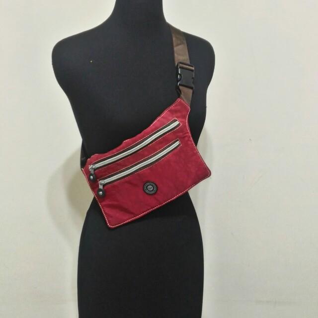全新~ A.Antonio 紅色 腰包 背包 斜背包 ~ 男女都可適用 ~