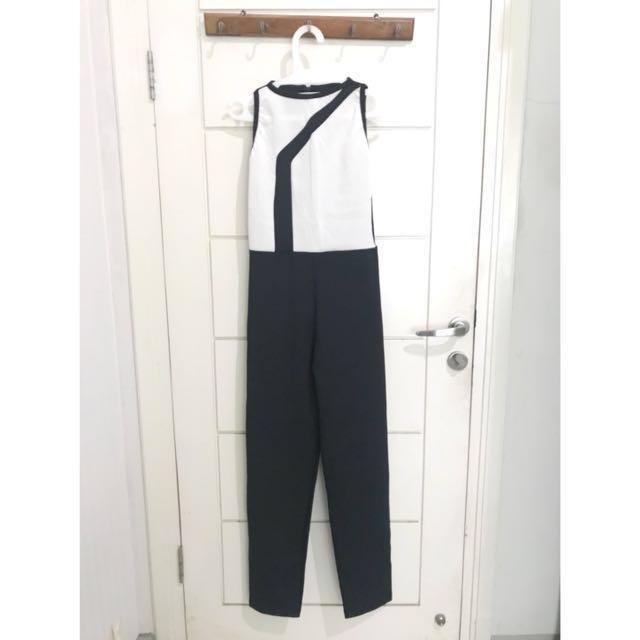 💕 Black & White Jumpsuit