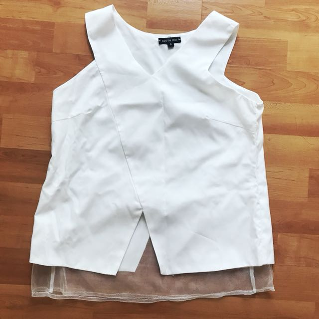 💕 White Top by Cloth Inc