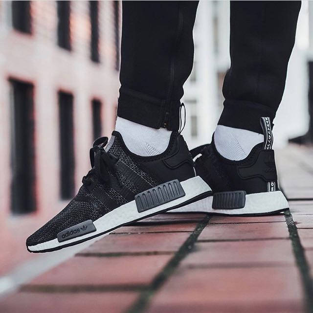 wholesale dealer 754b5 dab55 Adidas NMD R1 Carbon Black, Men's Fashion, Footwear on Carousell