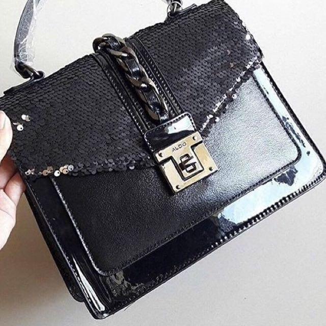 ac3755c9f40 ALDO FILINNA -Black Satchel Women s Handbag