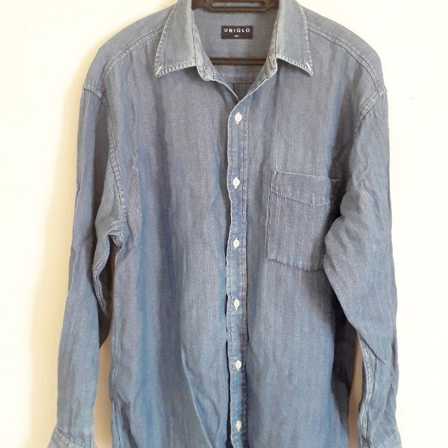 Uniqlo Denim Long Slv Shirt