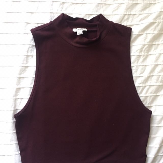 Aritzia (Wilfred) - Wine Coloured High Neck Top