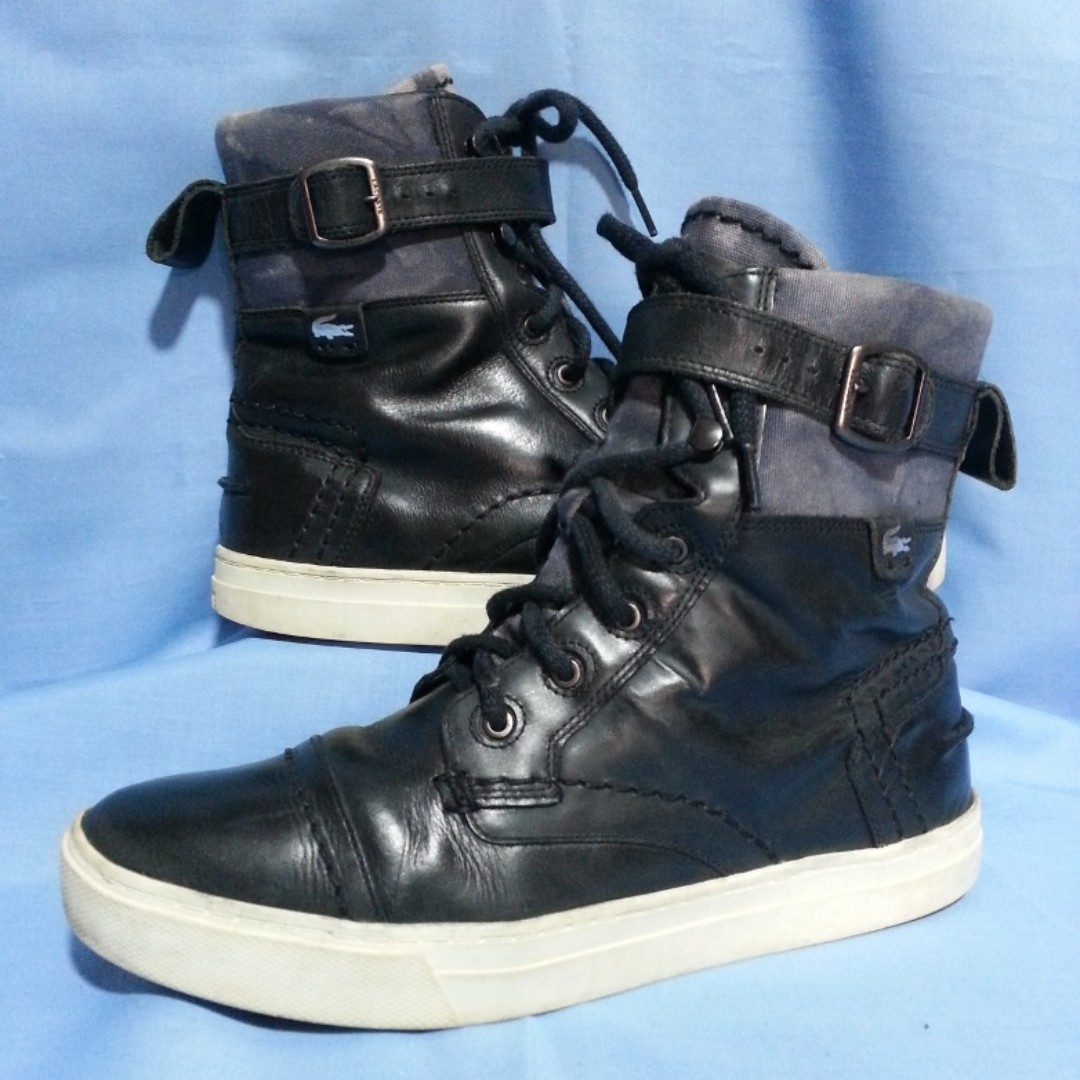 Authentic Lacoste High-Cut Sneakers Size US 9.5