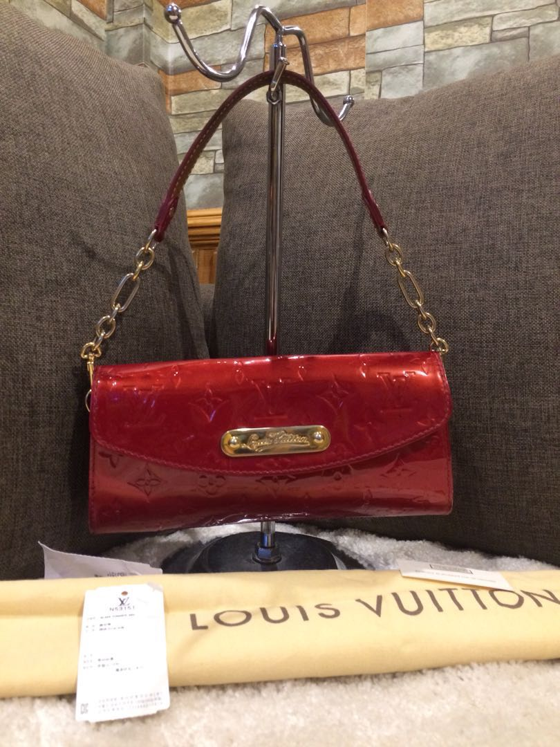 Authentic LV Sunset Boulevard Monogram Vernis With Dustbag