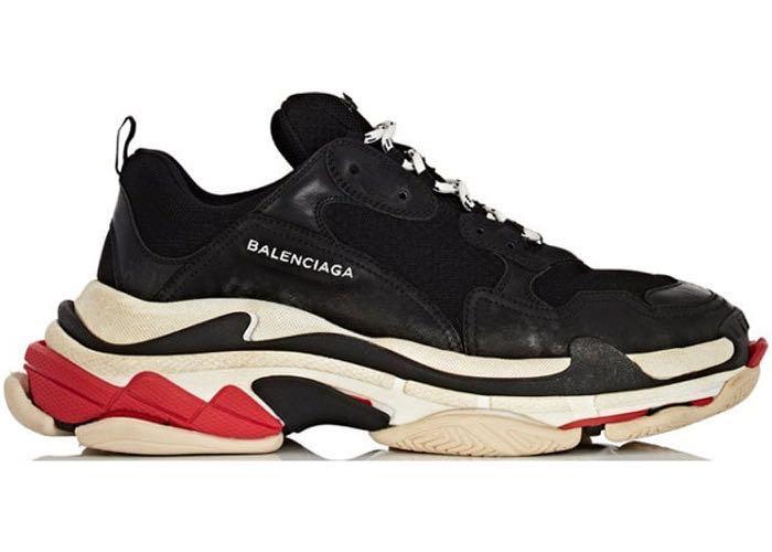 Balenciaga Triple S Sneakers Black Red