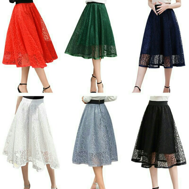 Ball Gown Pleated Elegant Organza Tulle High Waist Skirt, Fesyen ...