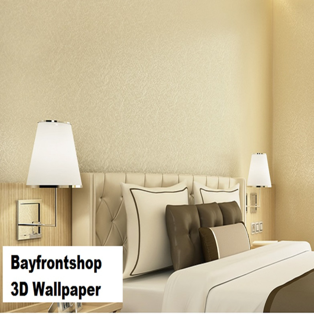 3D Gold Silk Wallpaper Living Room Bedroom Waterproof Wallpaper ...