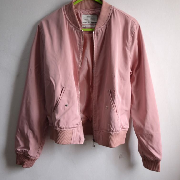 Bershka Blush Bomber Jacket