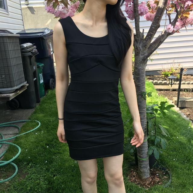 Black strappy back dress