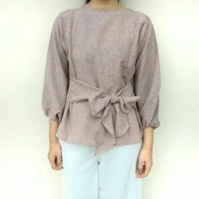 blouse pink soft