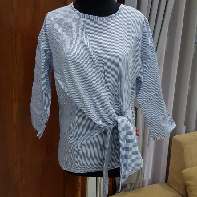 Blue stripey kimono