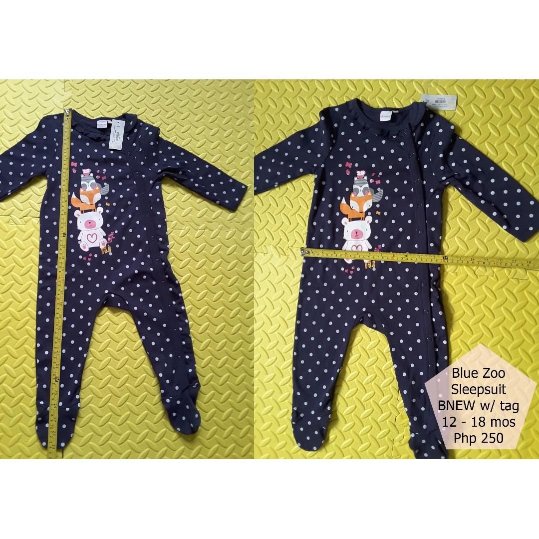 Blue Zoo Sleepsuit BNEW w/ tag