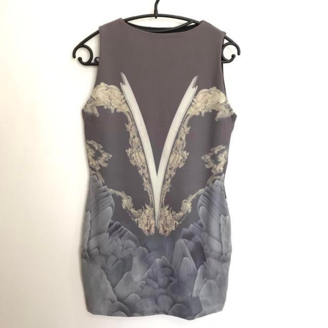 Bodycon Feather Print Jersey