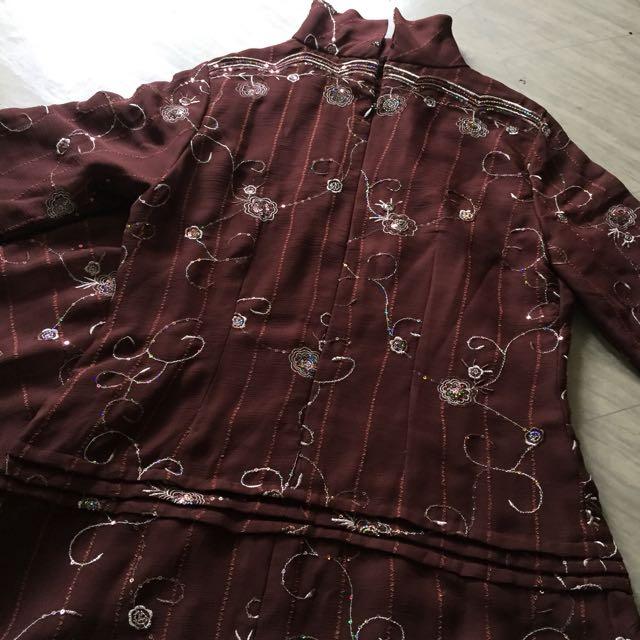 Brown long dress (gamis)