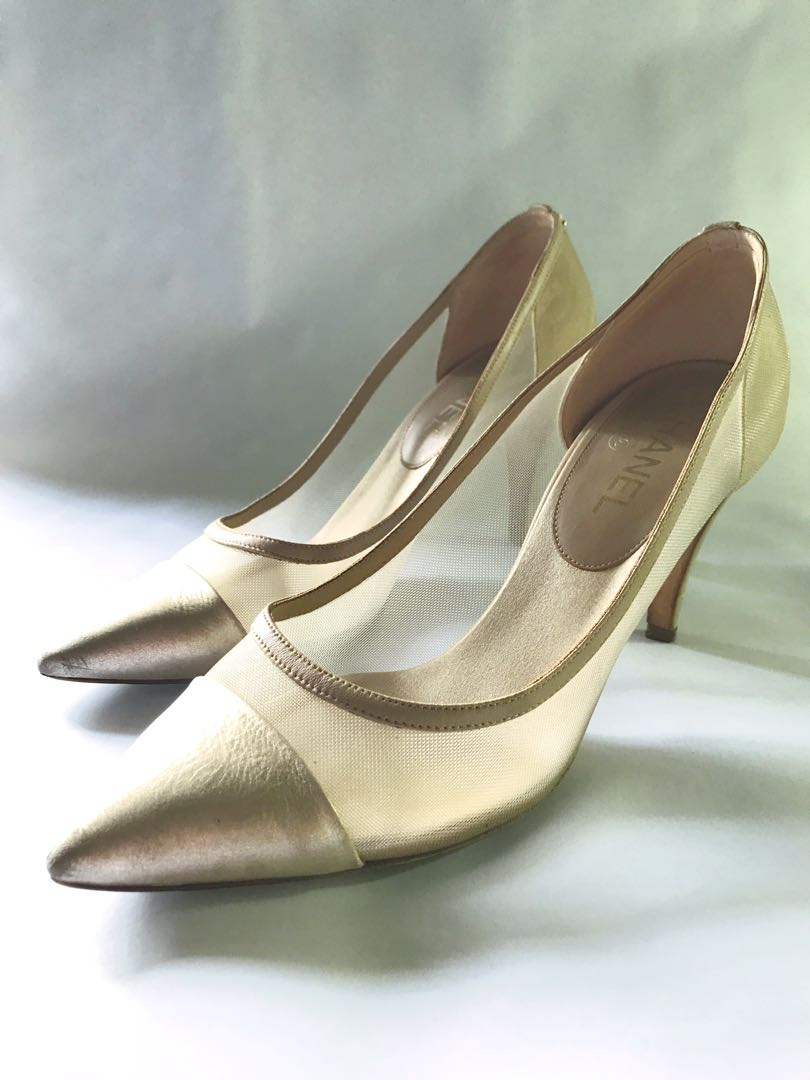 8912d52ca8d53 Chanel Cap-Toe CC Mesh Pumps, Women's Fashion, Shoes on Carousell