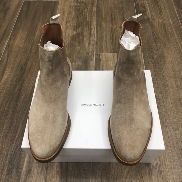 Common Projects Waxed Tan Suede Chelsea