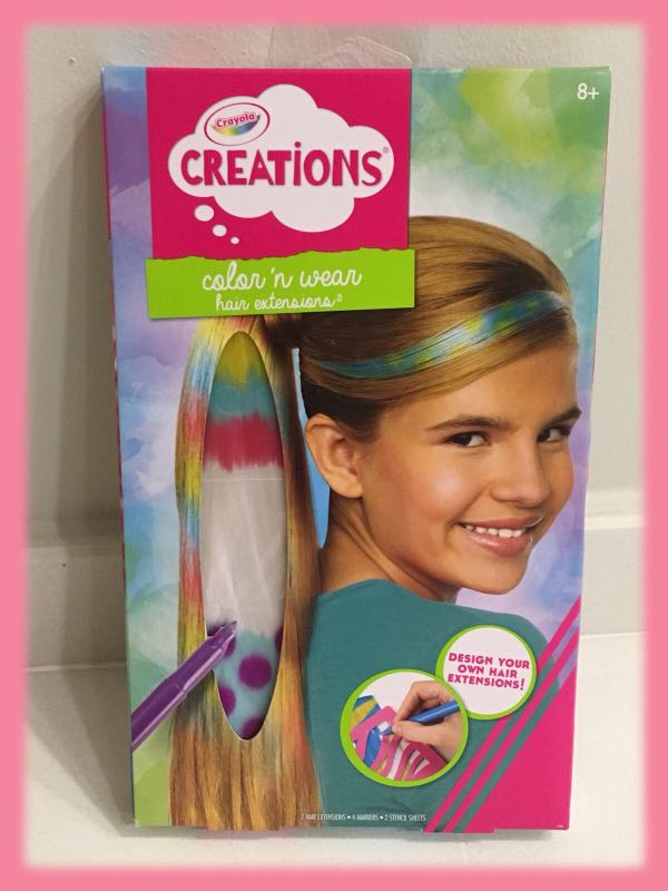 Crayola Color Wear Hair Extension Toys Games Others On Carousell