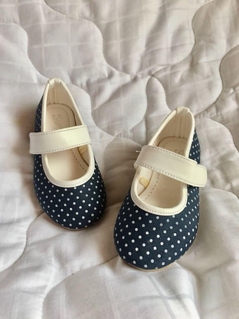 Denim doll shoe