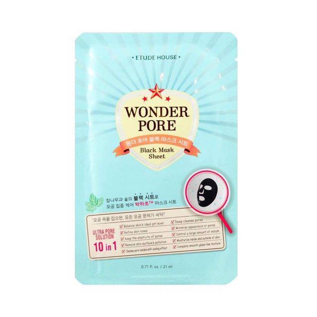 ETUDE HOUSE Wonder Pore Black Mask Sheet