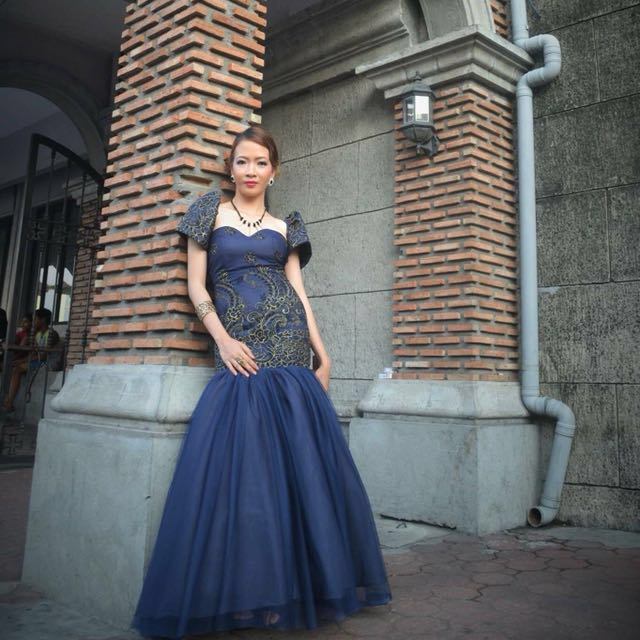 Filipiniana gown, Women\'s Fashion, Clothes on Carousell