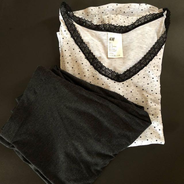 Final Price H&M Pyjama Top and Leggings