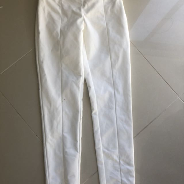 Forecast white high waisted pants 4