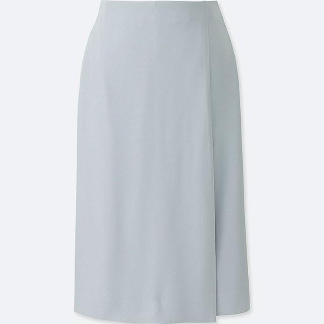 Uniqlo High Waist Drape Wrap Skirt