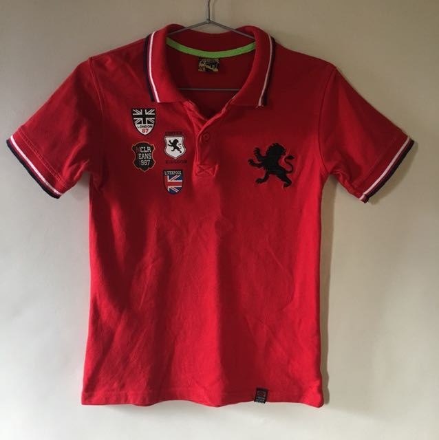 Fresh Gear Denim Red Polo shirt